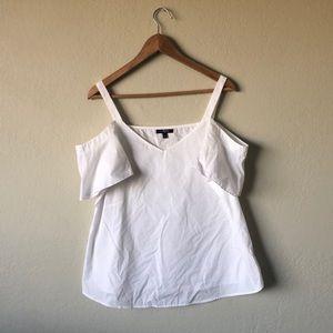 Tops - ◈ White Cold Shoulder Cotton Blouse ◈